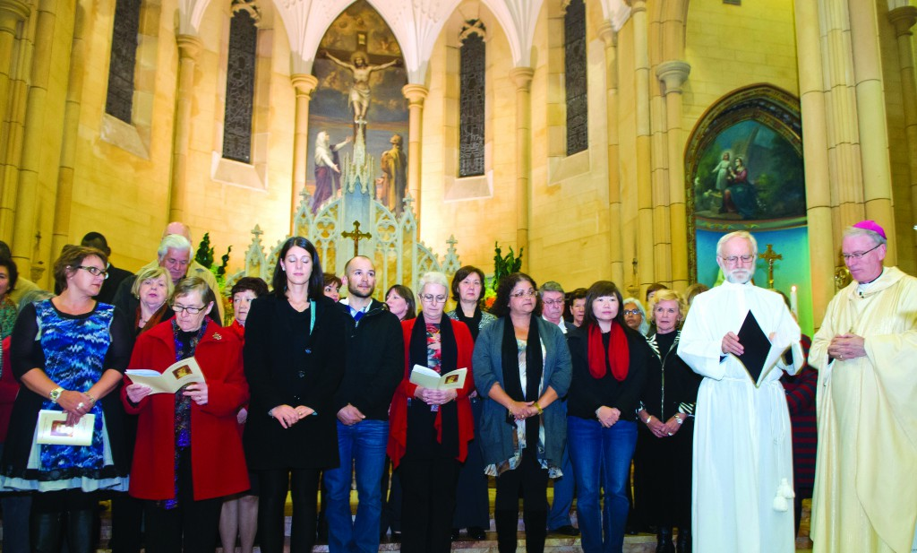 Bishop Donald Sproxton commissions the new catechists in the chapel of St Michael the Archangel in Leederville on August 8. PHOTOS: Catechist Services Team CEOWa