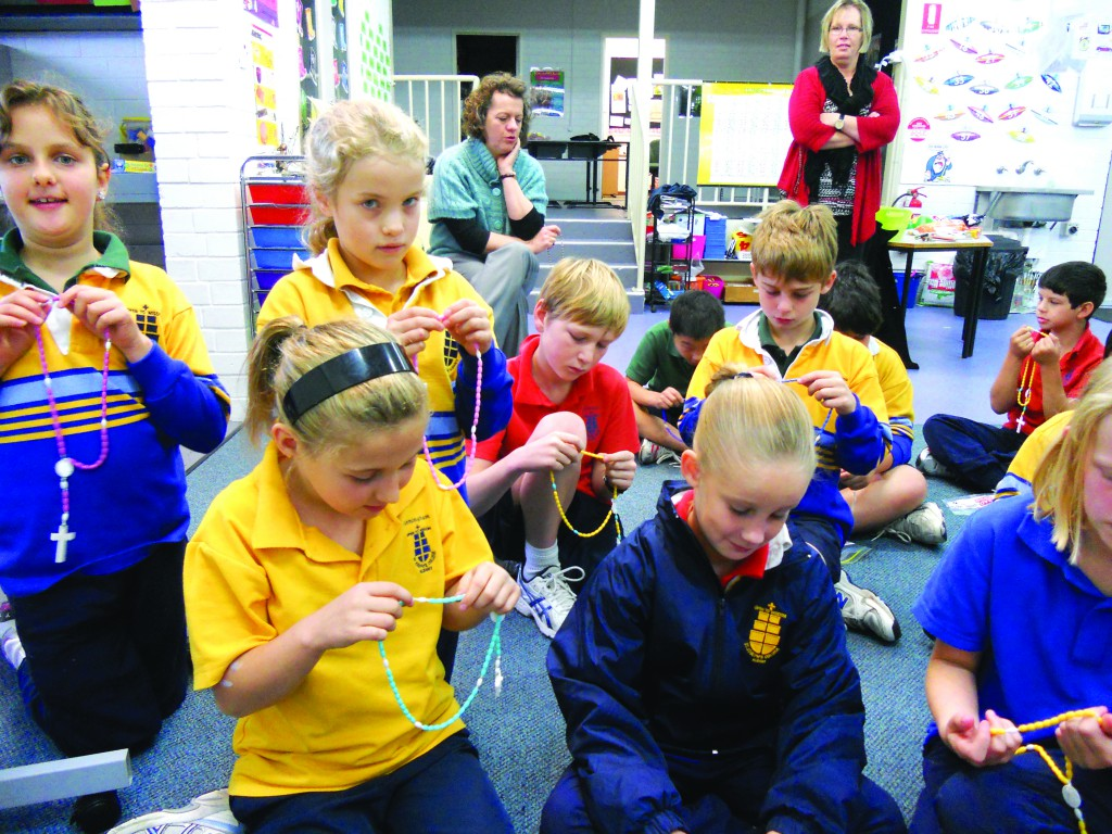 A busy production line in action at St Joseph's Primary School in Albany.  PHOTO: courtesy st joseph's primary school