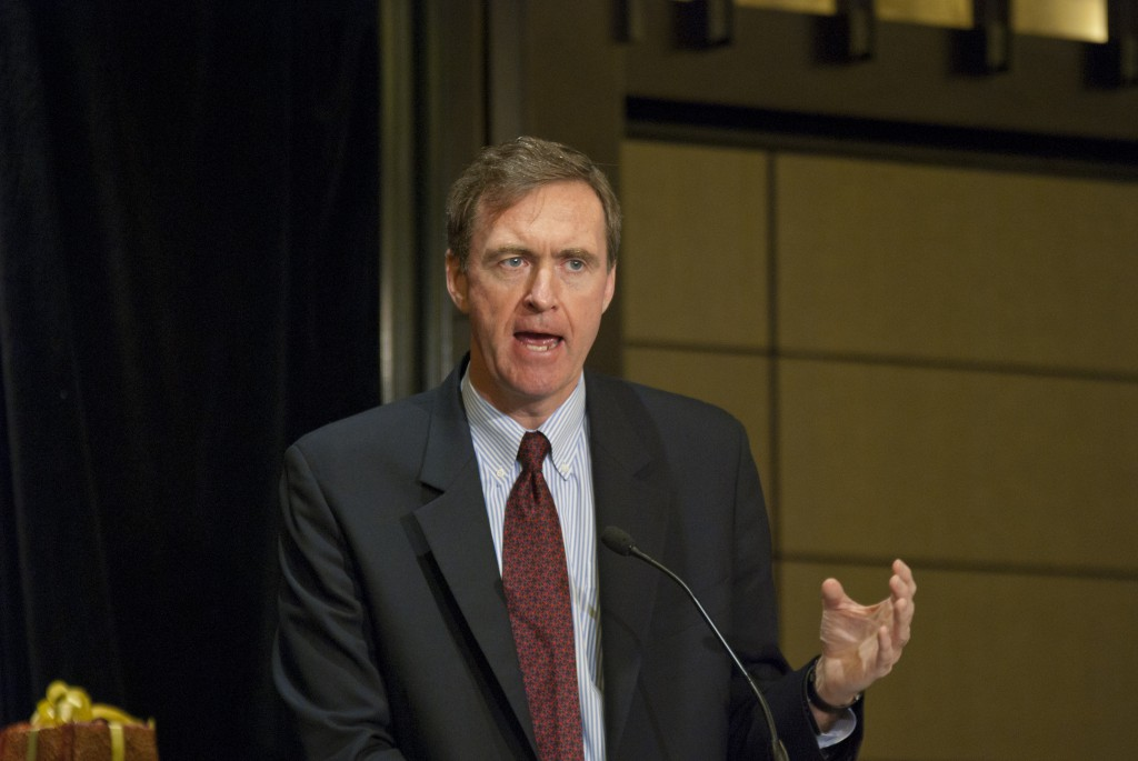 Chris Lowney, Trustee on the stewardship board of Catholic Health Initiatives in the US says people hunger for answers to the ultimate questions. PHOTO: Robert Hiini