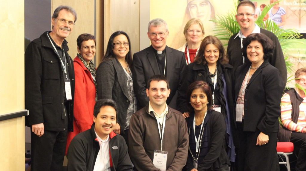 Conference speaker Archbishop Timothy Costelloe SDB with Perth delegates from parishes and Catholic education. PHOTO: Fayann D'Souza