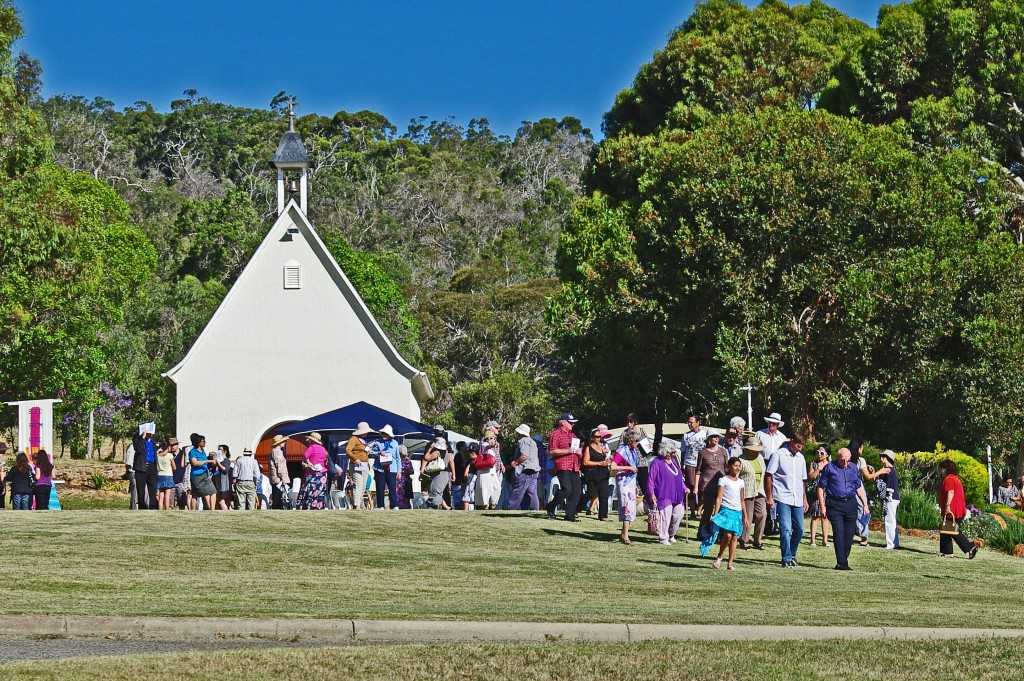 Catholics gather at the Schoenstatt Shrine in Armadale for a recent celebration. There are 42 such shrines around the world.