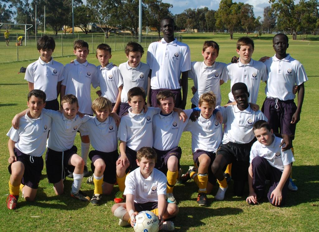 Irene McCormack Catholic College's winning Year 7 soccer team who crushed their opponents in the semi-finals, 10-0, and also took out the final win.