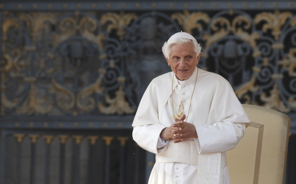 Pope Benedict XVI leads his general audience in St Peter's Square at the Vatican on October 24. Global trends acknowledged, the 85 year-old theologian is convinced Christianity has a bright future.
