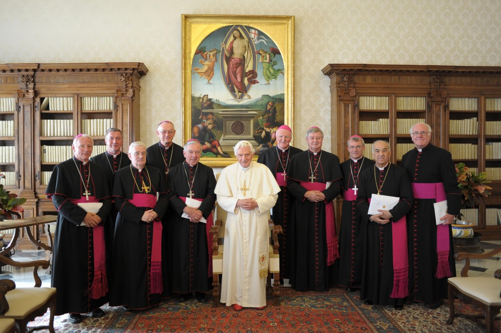 Australian Bishops with Pope Benedict XVI during their Ad Limina in 2011.