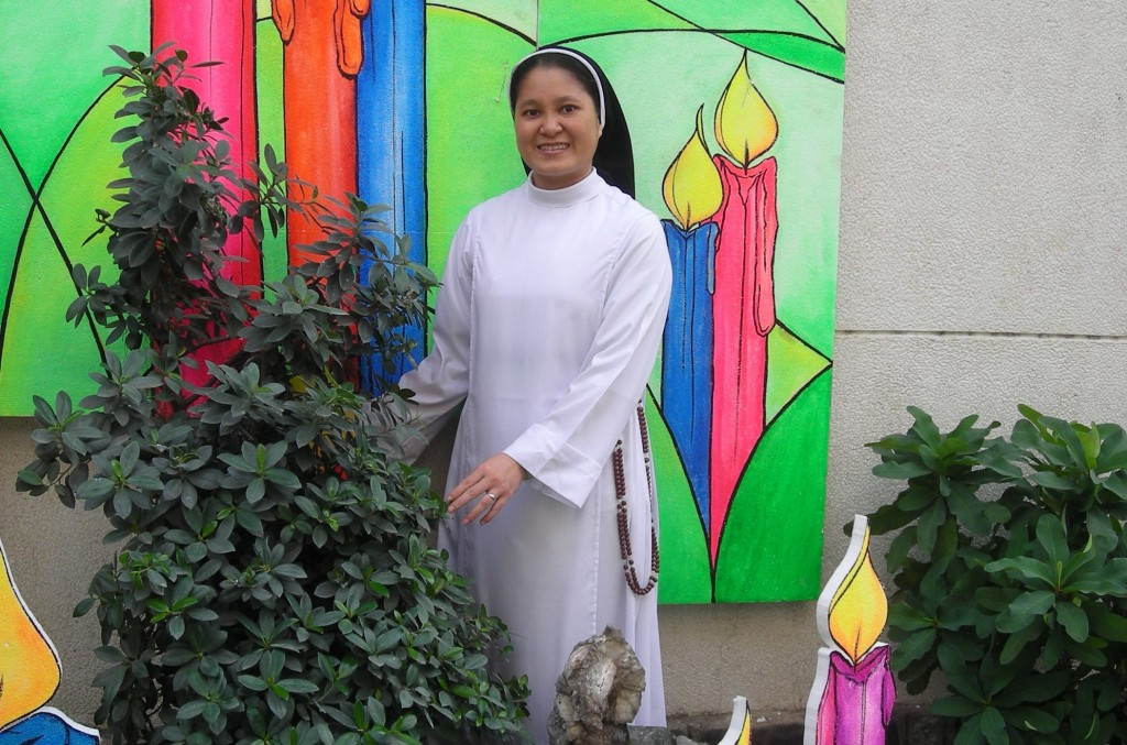 Sr Nguyen Hong with Christmas decorations. As a Dominican, her call is to talk with God and talk about him to others. She also does a fair bit of talking to God on behalf of those she encounters in her life as well. PHOTO: Debbie Warrier