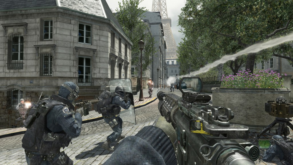 A scene from best selling first person shooter game Call of Duty 3. Some have blamed such games for real world killings involving firearms. PHOTO: CNS