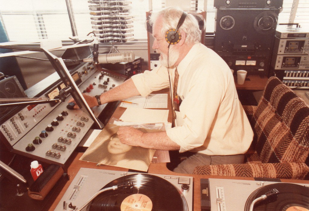 The first station manager, Keith Morgan, during Sonshine FM's first test broadcast in 1982. PHOTO: Courtesy 98FIVE Sonshine FM