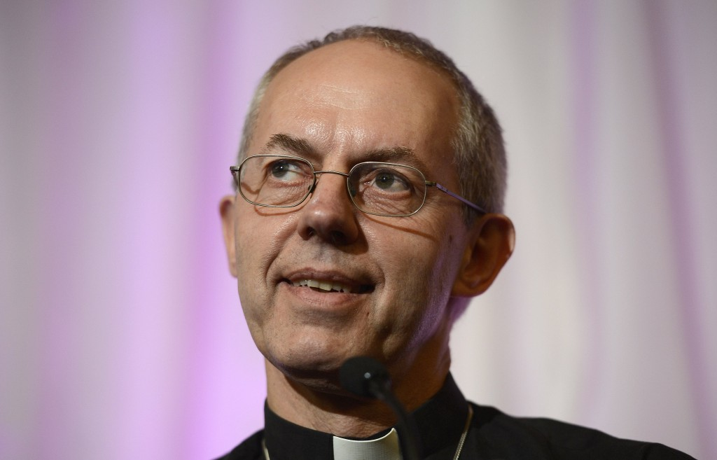 The newly appointed Archbishop of Canterbury, Justin Welby, smiles during a news conference on Nov. 9 at Lambeth Palace in London. PHOTO: CNS/Dylan Martinez, Reuters