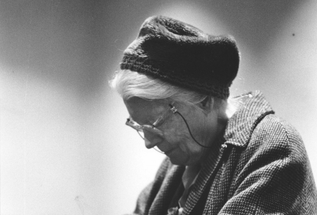 Dorothy Day, co-founder of the Catholic Worker Movement, is pictured in prayer at a church in New York in 1970. PHOTO: CNS/ © Bob Fitch