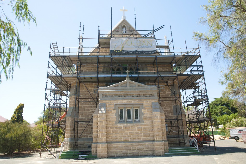 Work on St Mary's Star of the Sea Cottesloe has uncovered the need for additional work, including roof repairs. PHOTO: Matthew Biddle