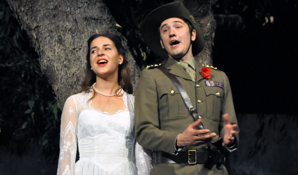 Notre Dame student Sophie Lester played Hero in the latest Shakespeare WA production, Much Ado About Nothing. Photo: UNDA