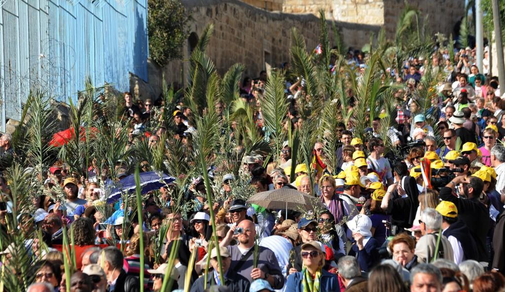 Image result for palm sunday in jerusalem