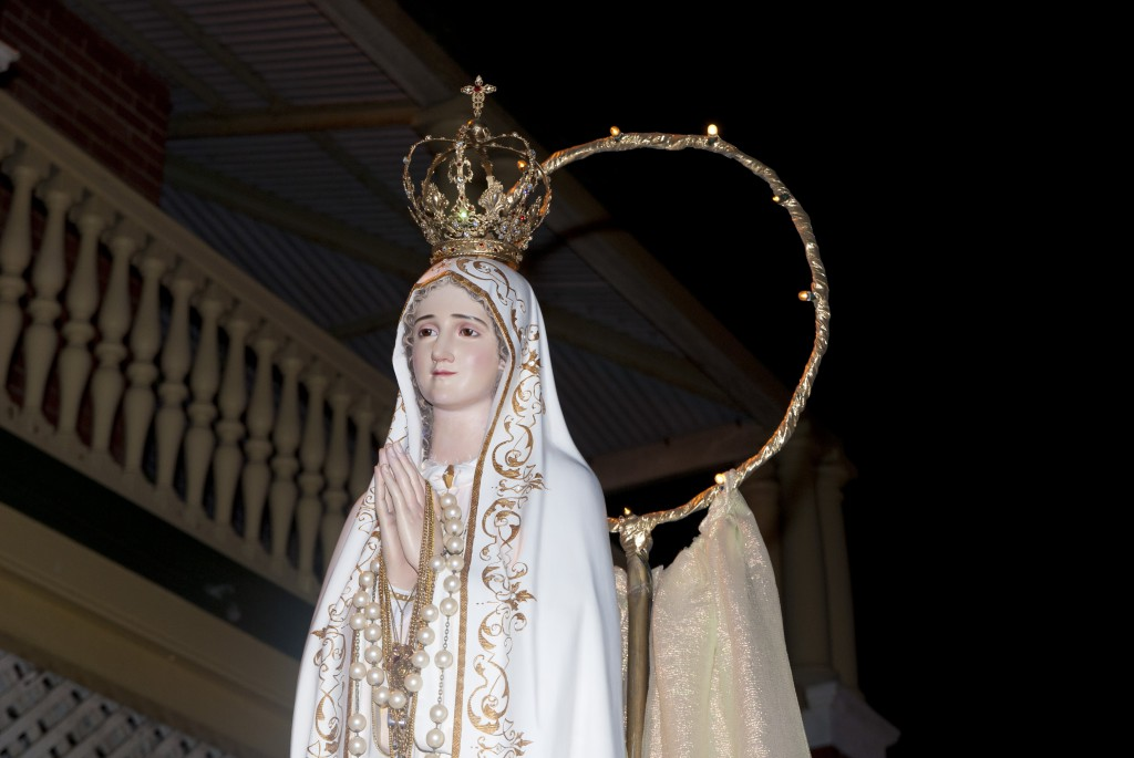 The statue of Our Lady of Fatima which is processed around the streets of Fremanfle during the celebrations of the feast every year. PHOTO: Mat De Sousa