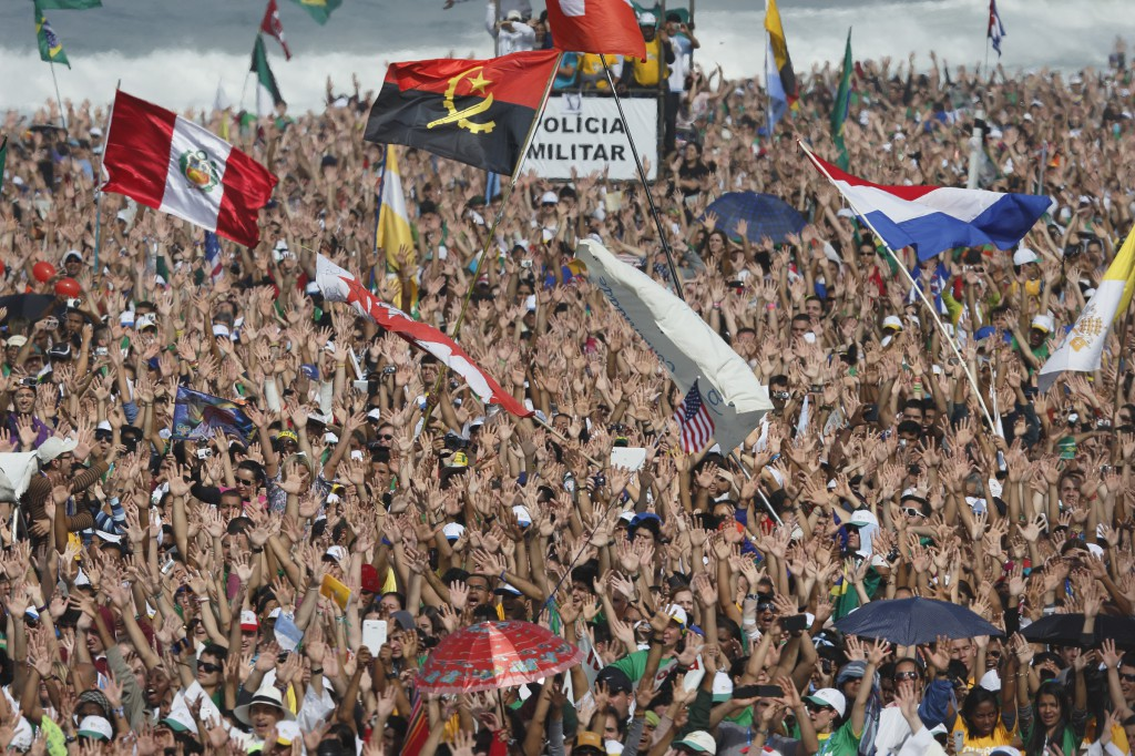 Pilgrims pack Copacabana beach for the World Youth Day closing Mass in Rio de Janeiro July 28. Pope Francis celebrated the service with an estimated 3 million people in attendance. PHOTO: CNS/Paul Haring