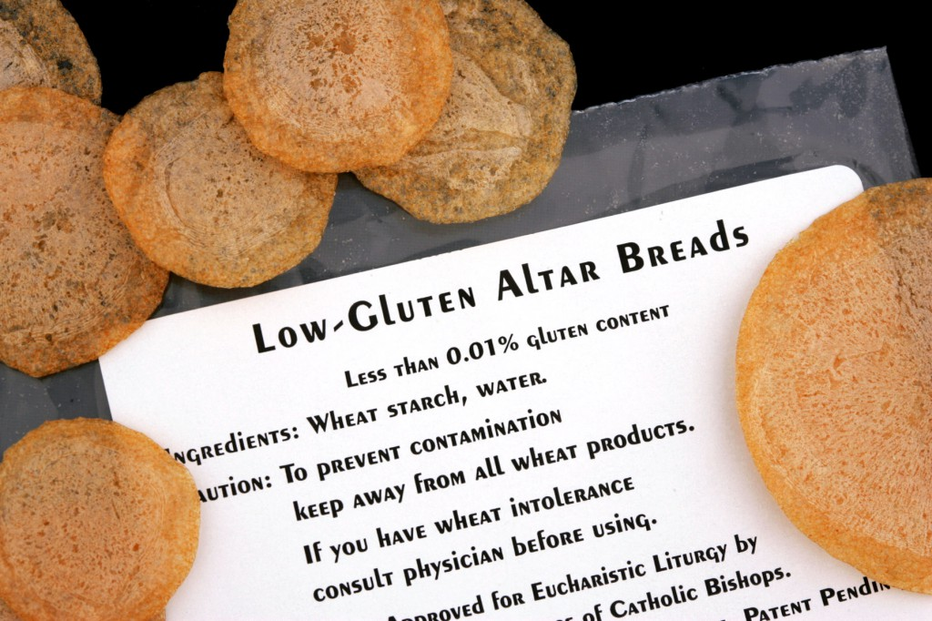 Low-gluten hosts approved for Mass are handmade at the Benedictine Convent of Perpetual Adoration in Clyde, Missouri. PHOTO: CNS
