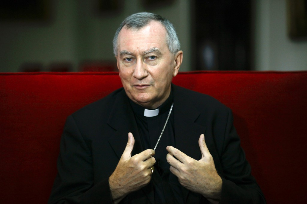 Italian Archbishop Pietro Parolin, the Vatican's newly appointed secretary of state, gestures during an interview in Caracas, Venezuela, Sept. 4. Archbishop Parolin, nuncio to Venezuela since 2009, will succeed Cardinal Tarcisio Bertone. PHOTO: CNS/Jorge Silva, Reuters
