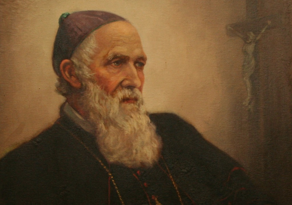 The second bishop of Perth, Martin Griver, was renowned during his own lifetime for his sanctity and the eminently pastoral nature of his ministry. His was a period of stability, relative unity and growth. He is pictured above in a section of a portrait which hangs in the dining room of Perth's Cathedral House, painted by Margaret Johnson. PHOTO: Peter Rosengren