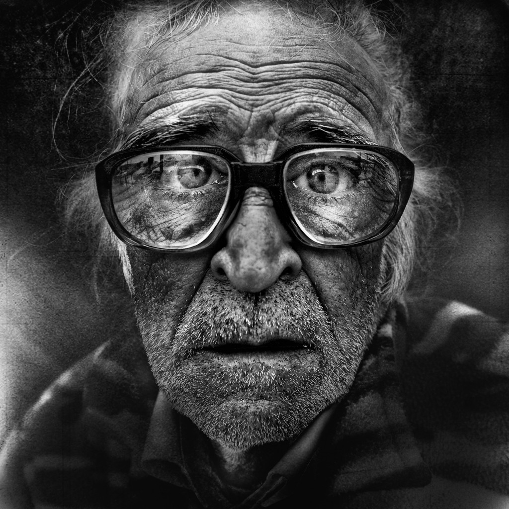 "This image of a homeless man is part of an exhibition by photographer Lee Jeffries at the Museum of Rome. The English photographer said he tries to capture a ""spiritual emotion"" in the faces of the homeless. PHOTO: CNS/courtesy of Lee Jeffries"