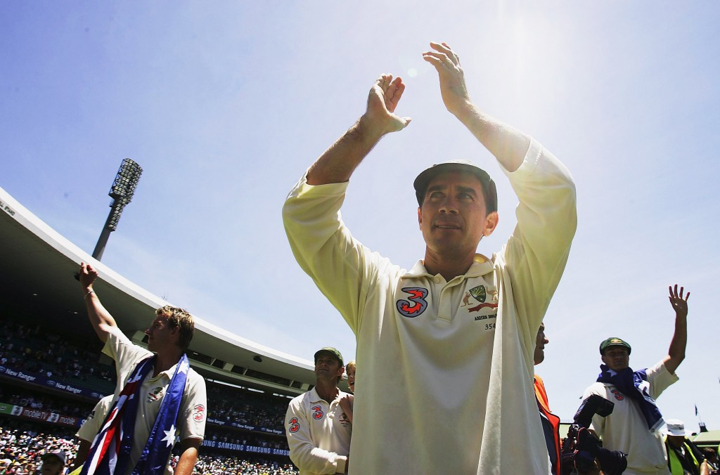 Justin Langer at the SCG after his final Test match for Australia in January 2007. PHOTO: C SPENCER / GETTY IMAGES
