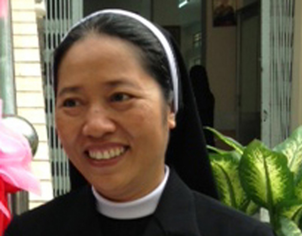 Sister Anna Van Nga Le of the Thu Duc Congregation of Lovers of the Holy Cross in Vietnam who run seven centres for the blind. She says her faith is influenced by community life, including the blind children she serves.