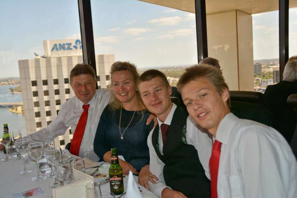 Jochen Diedler with wife Maria-Luise; and sons Nicholas (19) and Alexander (16). Photo: Supplied;