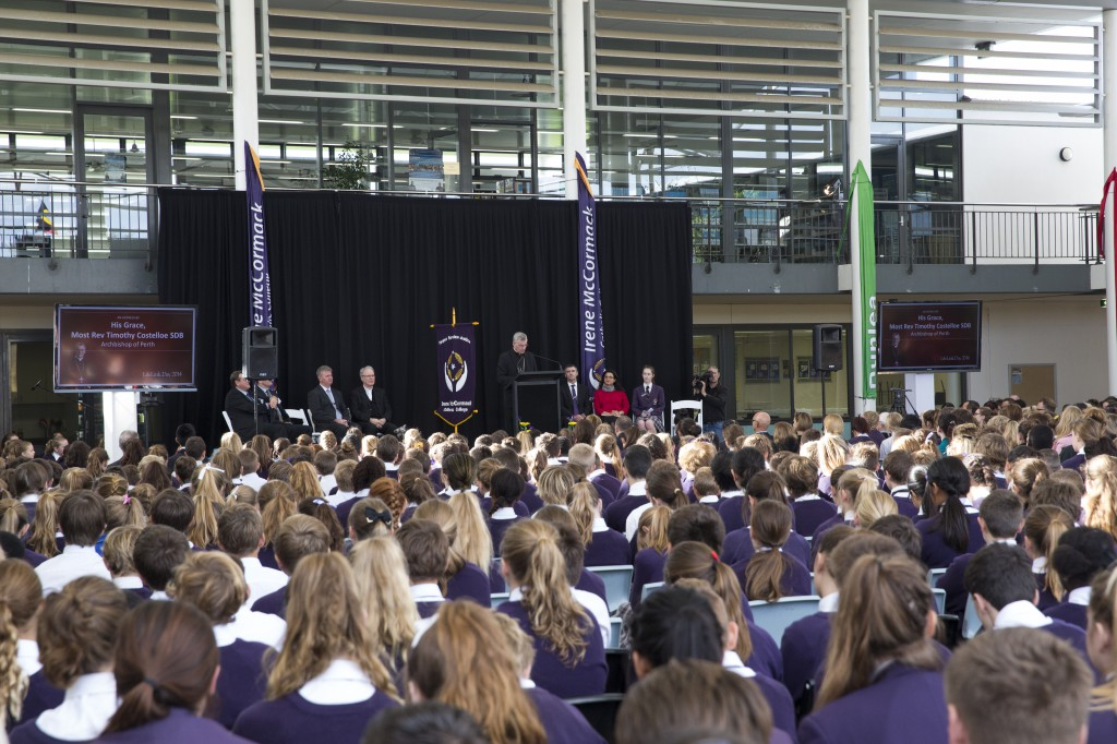 Hundreds of students from Catholic schools and many Church and civic dignitaries came together on May 23 to mark this year's LifeLink launch at Irene McCormack Catholic College, in aid of Catholic agencies working with those in need.