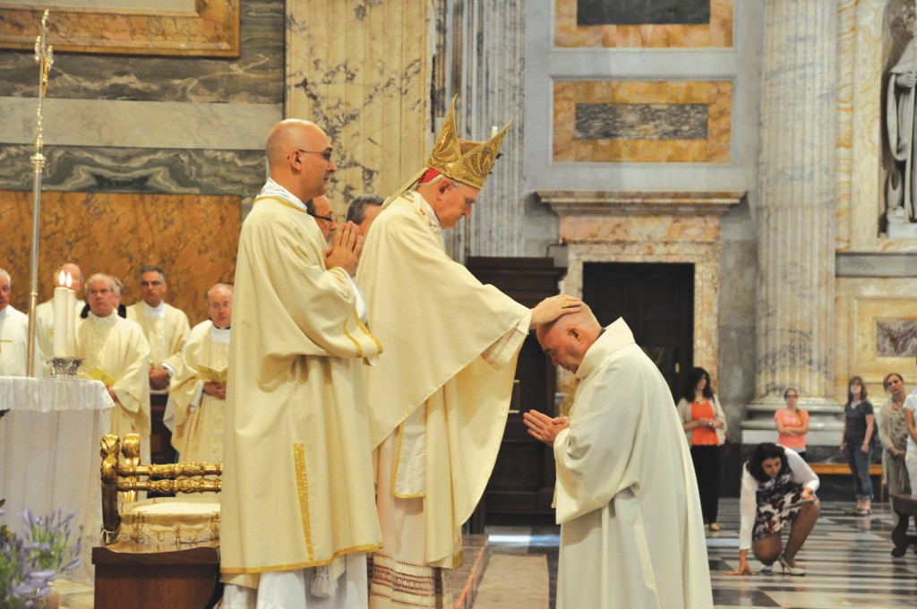 Cardinal James Harvey ordains Perth seminarian Patrick Toohey to the diaconate. Patrick has been studying in Rome since 2011.