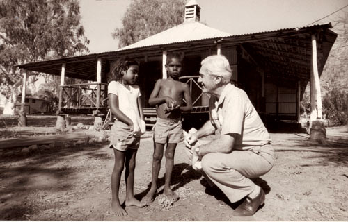 Bishop Jobst at work in the Kimberley.