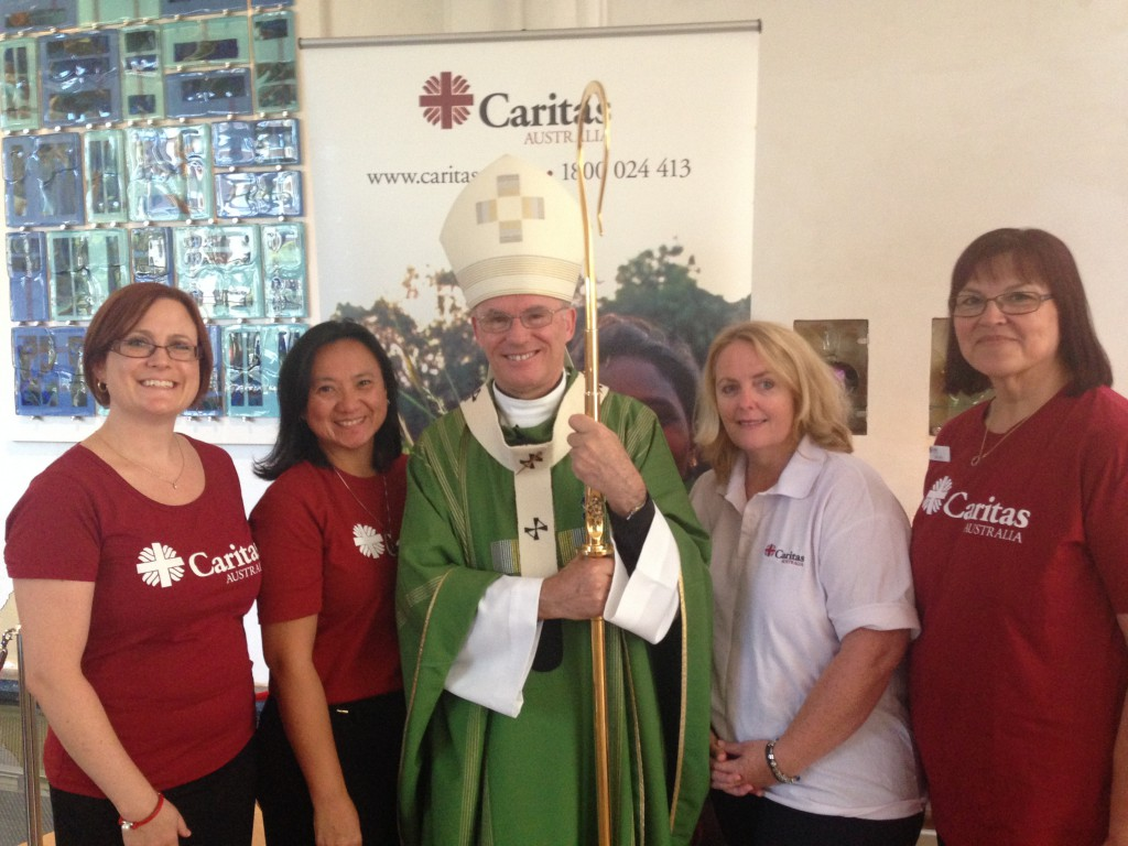 Archbishop Costelloe launched the 2015 Caritas Australia Project Compassion appeal at St Mary's Cathedral on 15 February. PHOTO: Caritas