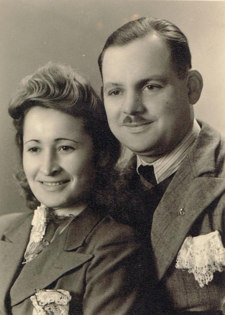 Marija and Aleksandras Stankevicius on their wedding day on 25 November 1943 in Kaunas, Lithuania.