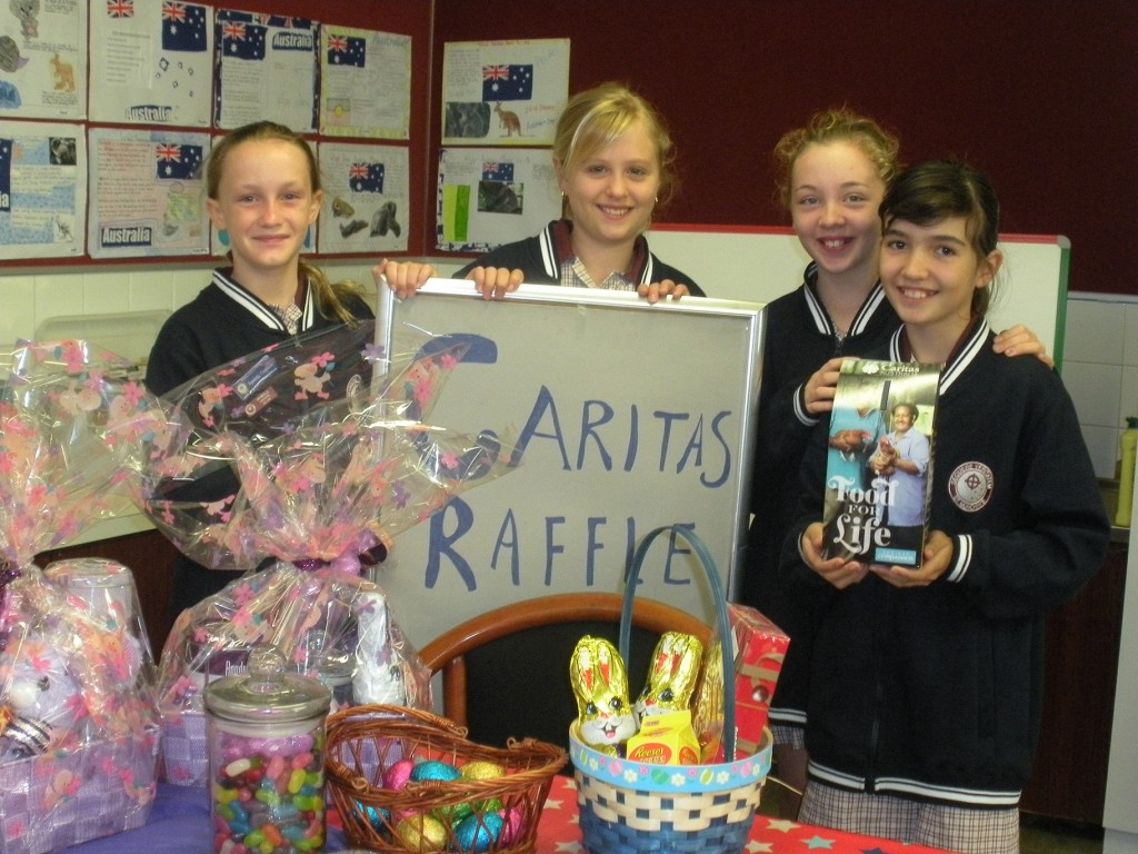 Year Six students from St Munchin's Catholic Primary in Gosnells  held a successful cake stall and raffle to raise money for people less fortunate with Caritas Australia. PHOTO: Supplied