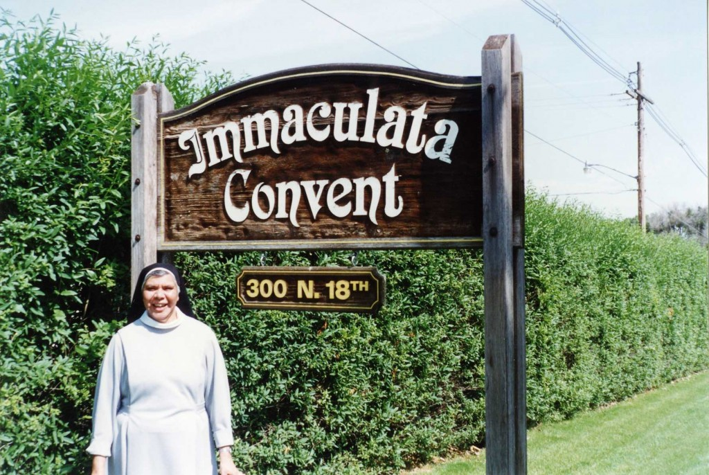 Sister Veronica Willaway OSB, an Australian Aboriginal Sister from the Yuat Noongar tribe, is picture in front of the Norfolk Priory in Nebraska, USA. PHOTO: Supplied