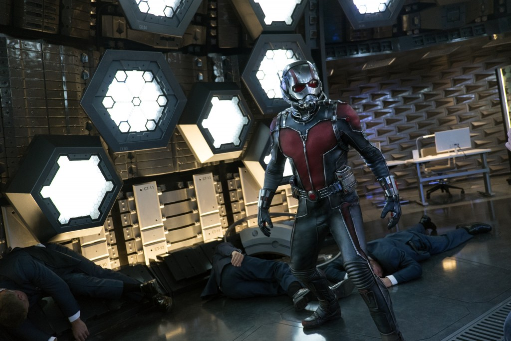 "Paul Rudd stars in a scene from the movie ""Ant-Man."" PHOTO: CNS/Disney"