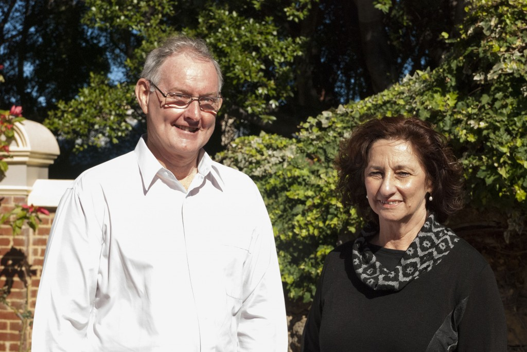 Catholic Outreach Director, Peter Mc Minn and Catholic Outreach Officer, Betty Thompson  are pictured outside their office in the Catholic Pastoral Centre, Highgate. PHOTO: Marco Ceccarelli