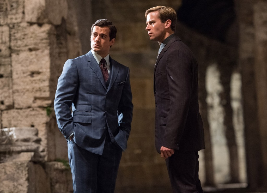 """Henry Cavill and Armie Hammer star in a scene from the movie """"The Man From U.N.C.L.E."""" PHOTO: CNS/Warner Bros."""