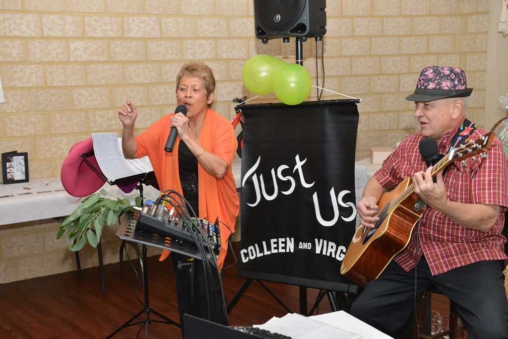 Just Us entertained attendees at a luncheon gathering at the Fr Dan Foley Centre in Lockridge. PHOTO: Supplied