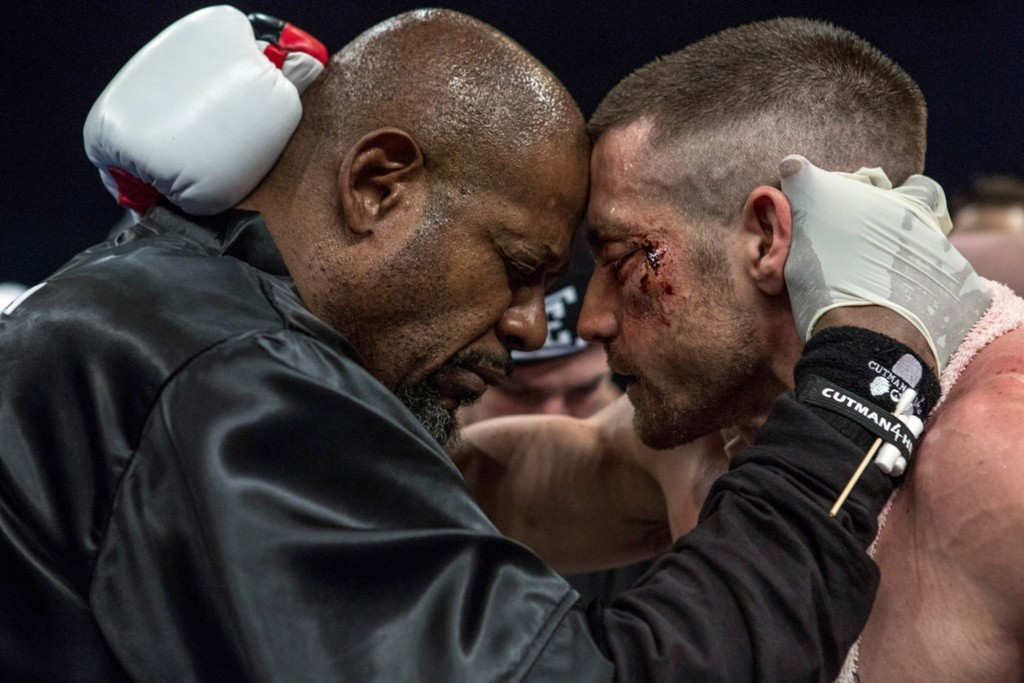 Forest Whitaker and Jake Gyllenhaal star in a scene from the movie Southpaw. PHOTO: CNS/Weinstein