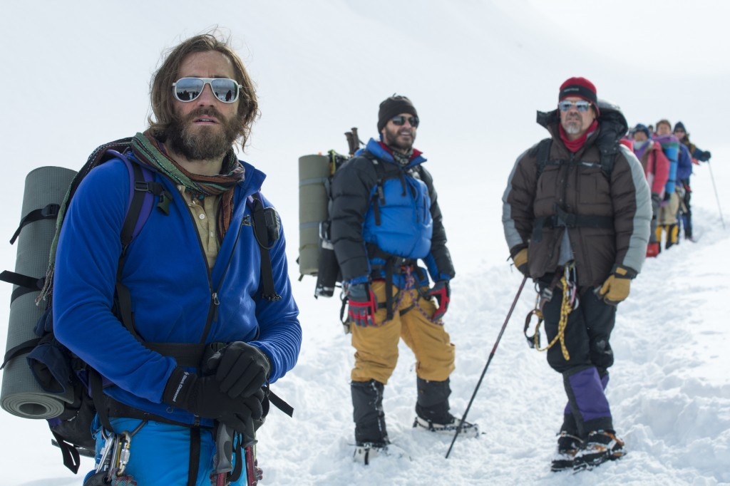 Jake Gyllenhaal, Michael Kelly and Josh Brolin star in a scene from the movie Everest. PHOTO: CNS