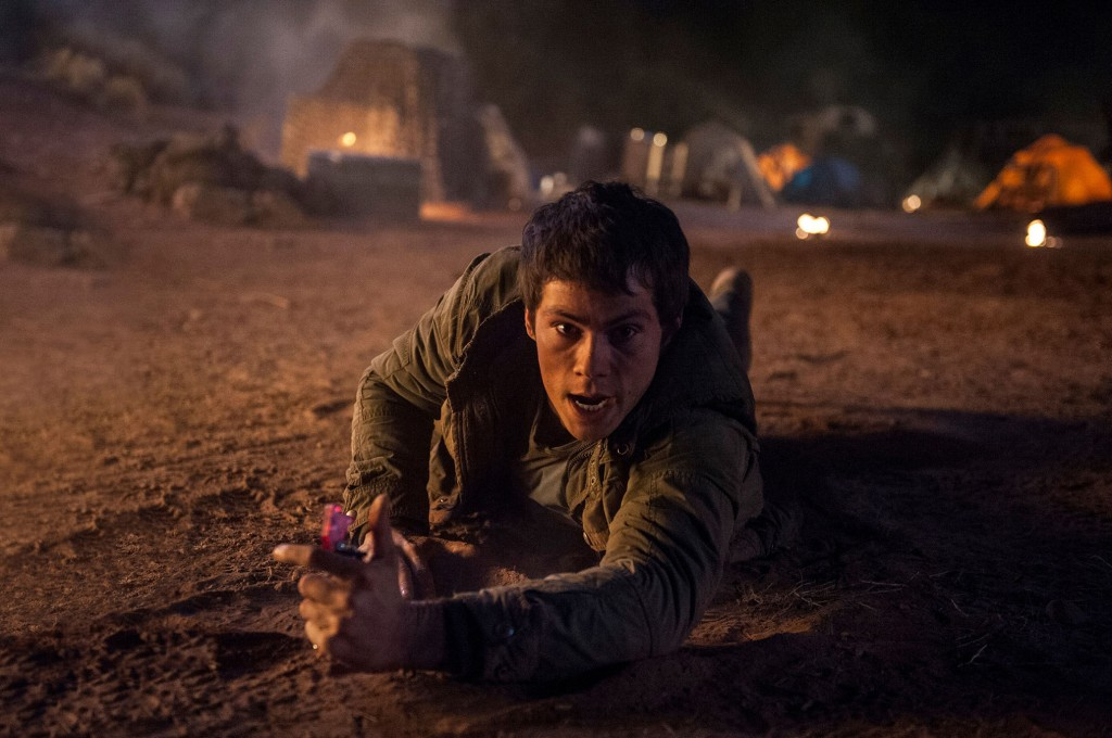"Dylan O'Brien stars in a scene from the movie ""Maze Runner: The Scorch Trials."" PHOTO: CNS/Fox"