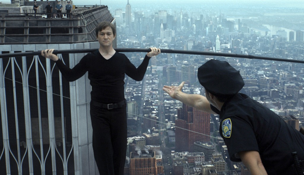Joseph Gordon-Levitt stars in a scene from the movie The Walk. PHOTO: CNS/Sony