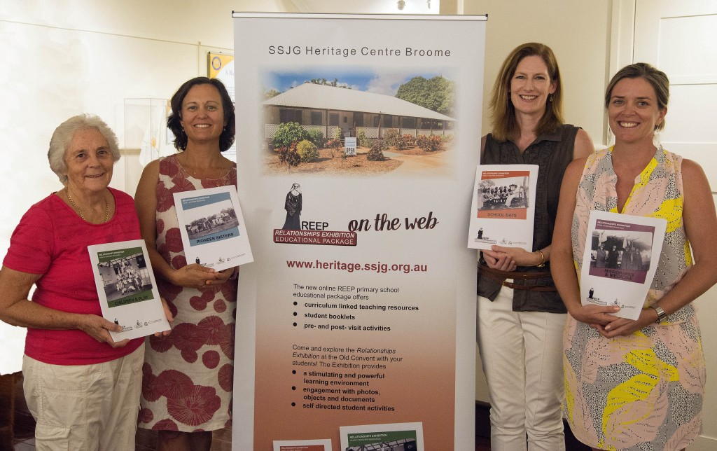 The SSJG Heritage Centre is very grateful to Joyce Hudson, Erica Rowley, Beth Graham and Keryn Moase for their generosity in giving their time to check, tweak and refine the draft materials in readiness for presentation on the web. PHOTO: Supplied
