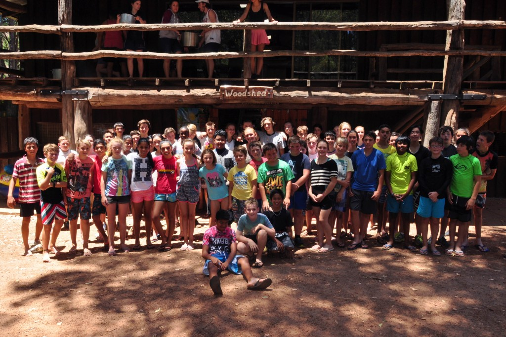 WA Young Salesians Camp attendees celebrate breaking a record for the annual event. Photo: Supplied