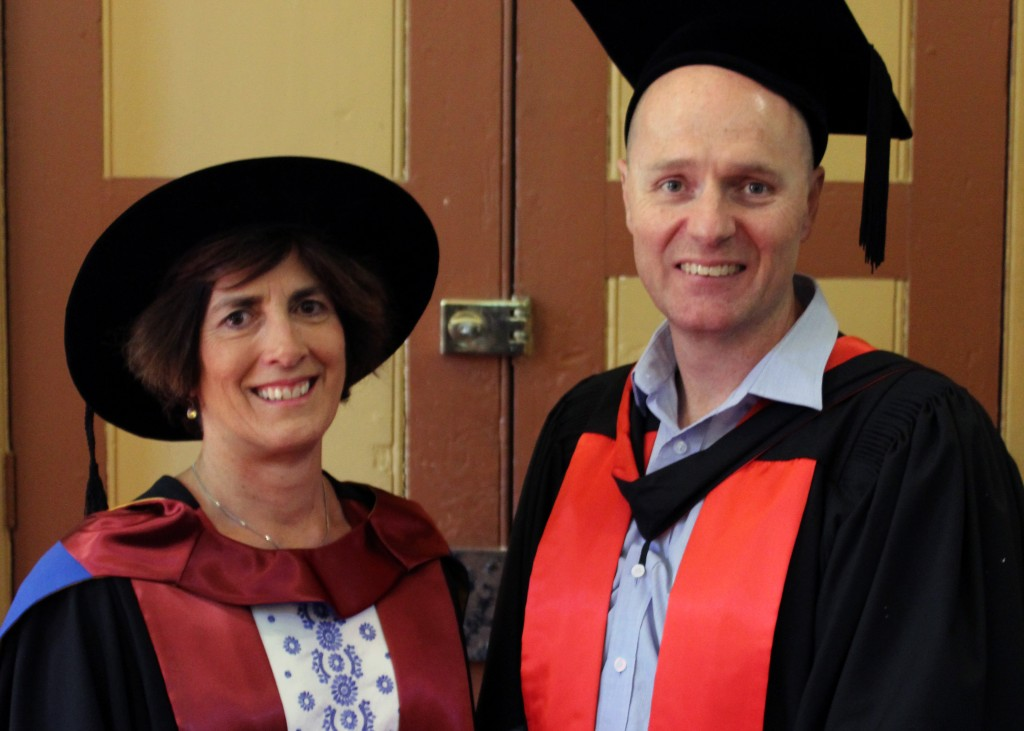 Dr Jo Connaughton with Doctor of Physiotherapy Research supervisor, Associate Professor Ben Wand, from the University's School of Physiotherapy. Photo: Supplied