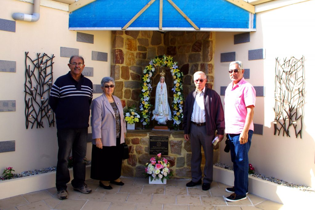 Architect Phil Meynert, parishioners Teresa and Fred Martins, and Coordinator, Vern Fonceca. Photo: Francis Deary.
