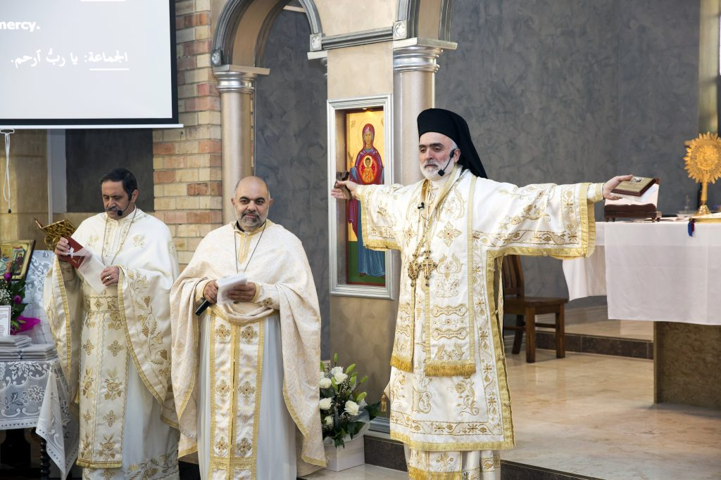 Melkite Bishop, the Most Reverend Robert Rabbat, celebrated Mass with representatives of different Catholic Churches on Sunday, 1 May at Our Lady of the Annunciation in Mt Lawley. Photo: Supplied