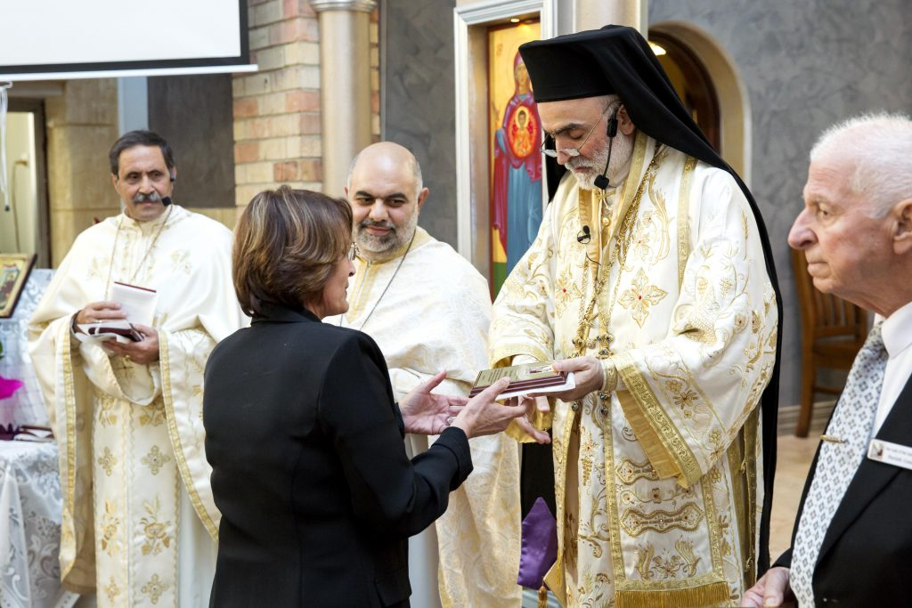 During the Mass, Bishop Rabbat recognised the work and devotion of a number of parishioners who have sustained the Melkite community in Perth throughout the years. Photo: Supplied