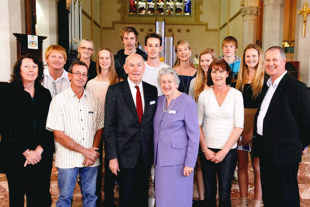 Jeff and Joan Trew, pictured with family members, would have celebrated their 60th wedding anniversary in July. Photo: Supplied