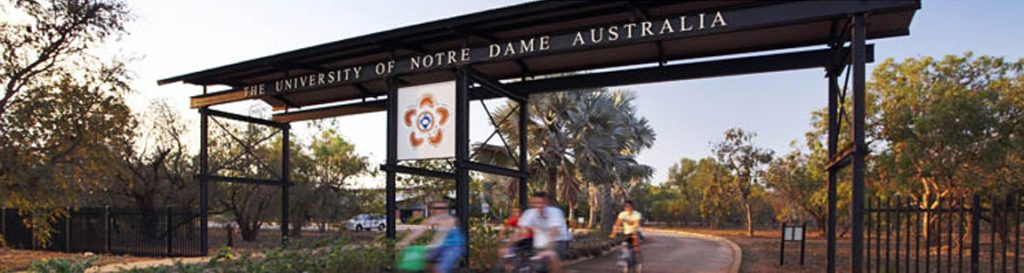 The University of Notre Dame Broome Campus entry. Photo: Supplied