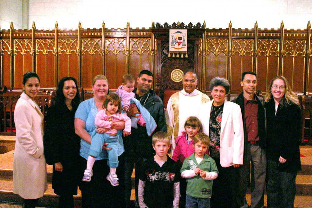 Deacon Trevor Lyra with members of his family after his ordination to the Permanent Diaconate on 29 June 2006. Photo: Jamie O'Brien