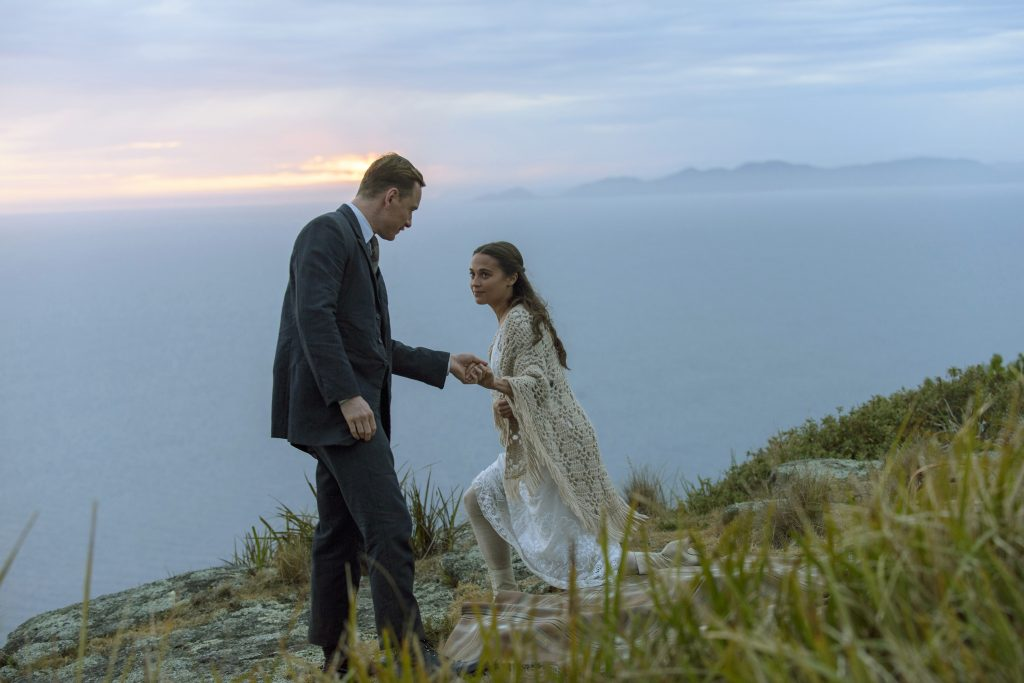 Michael Fassbender and Alicia Vikander star in a scene from the movie The Light Between Oceans. Photo: CNS/Disney